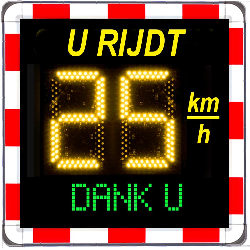 Snelheidsdisplay 25 kmh